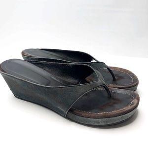 Donald J. Pliner Guenna Thong Wedge Sandals